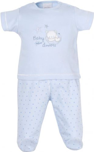 Baby Blue Tiny Bear Top & Trousers